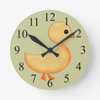 Cute Duckling Wall Clock For Kids
