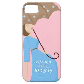 Cute Due Date Gender Reveal Pregnant Woman iPhone 5 Case