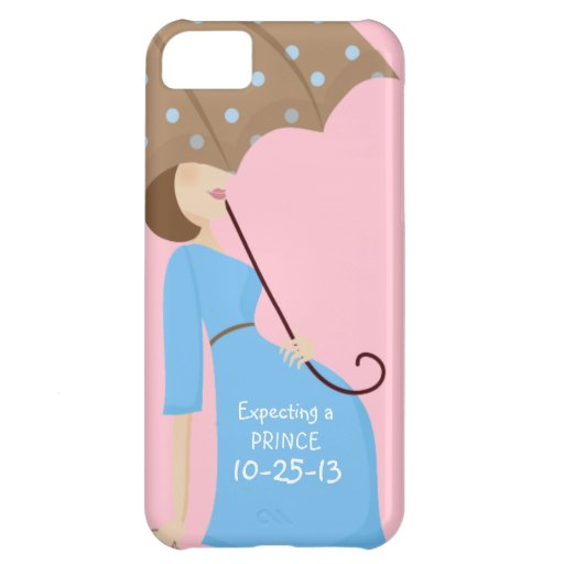 Cute Due Date Gender Reveal Pregnant Woman Cover For iPhone 5C