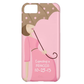 Cute Due Date Gender Reveal Pregnant Woman Case For iPhone 5C