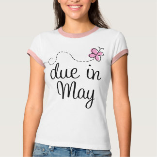Cute Due In May Announcement T-shirt