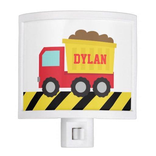 Cute Dump Truck, Construction Vehicle, Boys Room Nite Lites