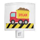 Cute Dump Truck, Construction Vehicle, Boys Room Night Lites