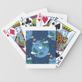 cute Earth Day Bicycle Playing Cards