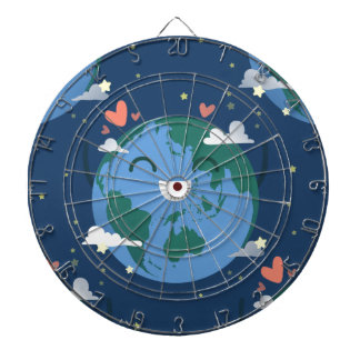 cute Earth Day Dartboard