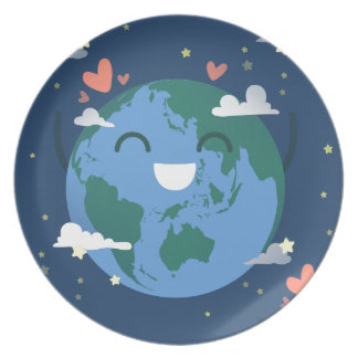 cute Earth Day Dinner Plate
