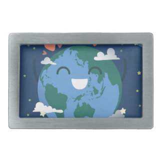 cute Earth Day Rectangular Belt Buckles
