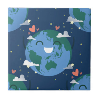 cute Earth Day Tile