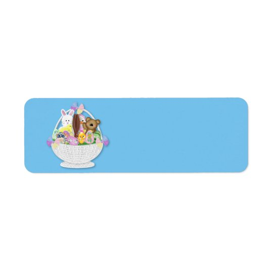Cute Easter Basket Return Address Label