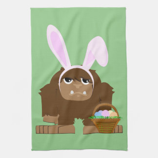 Cute Easter Bigfoot Kitchen Towel