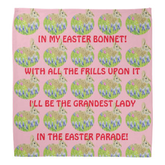 Cute Easter Bonnet Bandanna