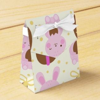 Cute Easter bunnies and chocolate eggs pattern Favor Box