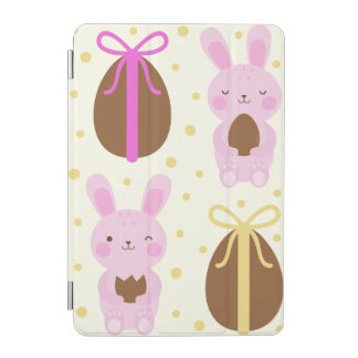 Cute Easter bunnies and chocolate eggs pattern iPad Mini Cover