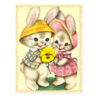 Cute Easter Bunnies Kids Postcard
