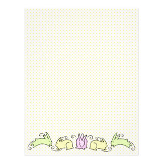 Cute Easter Bunnies Letterhead Template