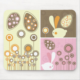 Cute Easter Bunnies Mouse Pad
