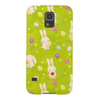 Cute easter bunnies on a meadow galaxy s5 covers
