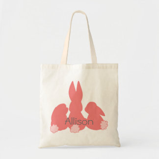 Cute Easter Bunnies - Personalized Budget Tote