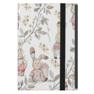 Cute Easter Bunnies Watercolor Pattern Case For iPad Mini