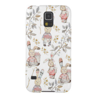 Cute Easter Bunnies Watercolor Pattern Galaxy S5 Case