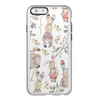 Cute Easter Bunnies Watercolor Pattern Incipio Feather® Shine iPhone 6 Case