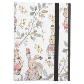 Cute Easter Bunnies Watercolor Pattern iPad Air Case