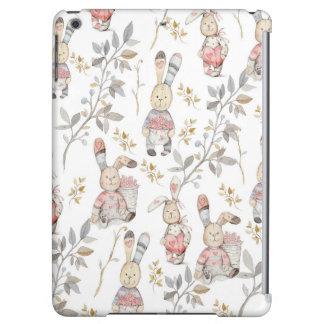 Cute Easter Bunnies Watercolor Pattern iPad Air Cover
