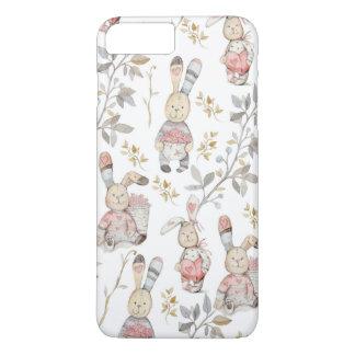 Cute Easter Bunnies Watercolor Pattern iPhone 8 Plus/7 Plus Case