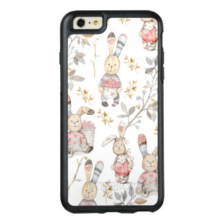 Cute Easter Bunnies Watercolor Pattern OtterBox iPhone 6/6s Plus Case