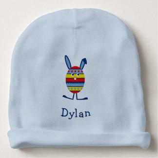 Cute easter bunny custom name baby beanie