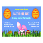 Cute Easter Bunny & Eggs in Grass Egg Hunt Flyers