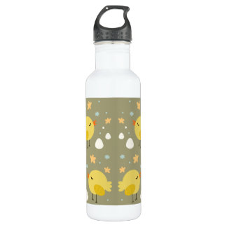 Cute easter chicks and little eggs pattern 710 ml water bottle