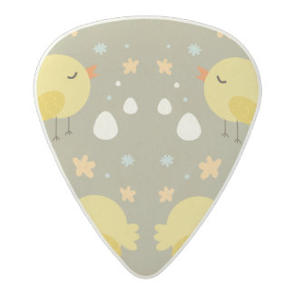 Cute easter chicks and little eggs pattern acetal guitar pick
