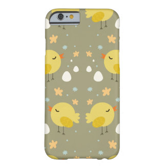 Cute easter chicks and little eggs pattern barely there iPhone 6 case