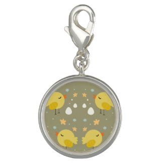 Cute easter chicks and little eggs pattern charm