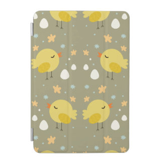 Cute easter chicks and little eggs pattern iPad mini cover