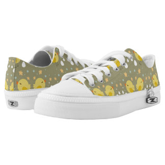 Cute easter chicks and little eggs pattern Low-Top sneakers