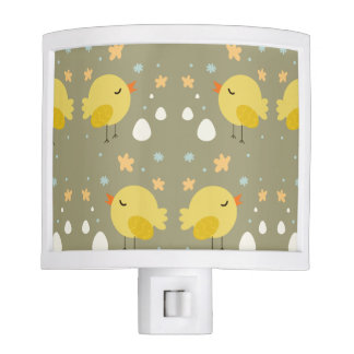 Cute easter chicks and little eggs pattern nite lites