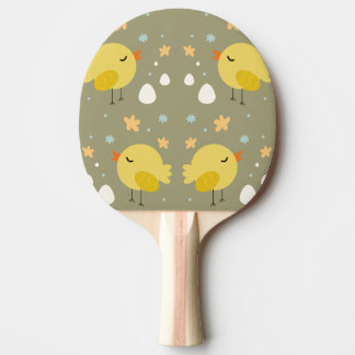 Cute easter chicks and little eggs pattern ping pong paddle