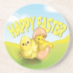 Cute Easter Chicks Happy Easter Drink Coasters