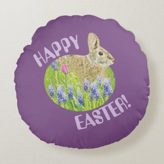 Cute Easter Design Round Throw Pillow