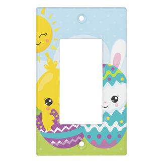 Cute easter duo light switch cover