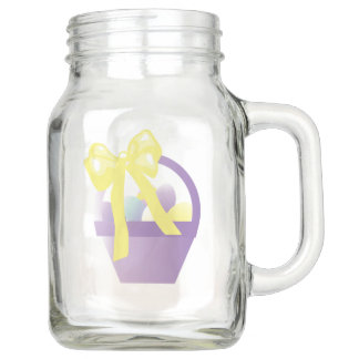 Cute  Easter Egg Basket Mason Jar