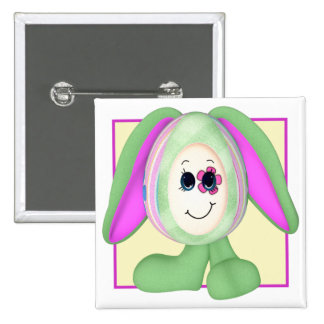 Cute Easter Egg Bunny 2 Inch Square Button