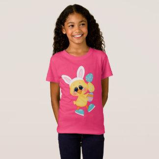Cute Easter egg duck girls t-shirt