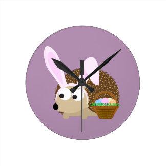 Cute Easter Hedgehog Clock