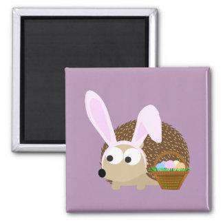 Cute Easter Hedgehog Square Magnet