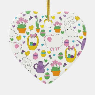 Cute Easter pattern Ceramic Ornament