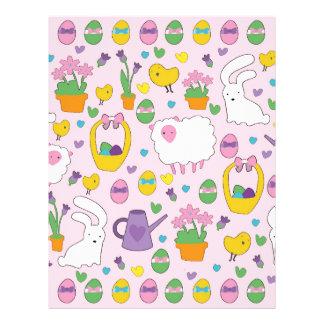 Cute Easter pattern Custom Letterhead