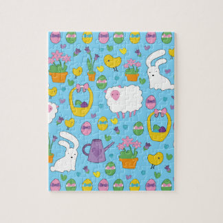 Cute Easter pattern Jigsaw Puzzle